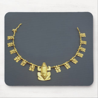 Quimbaya necklace with frogs, from Colombia Mouse Mat