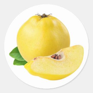 Quince fruits round sticker