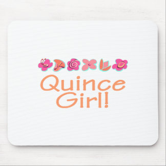 Quince Girl peach color Mousepad