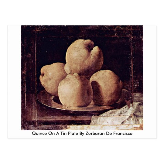 Quince On A Tin Plate By Zurbaran De