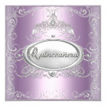 Quinceanera 15th Birthday Lilac Pink Silver Star Personalised Invites