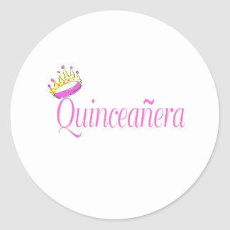 Quinceanera Classic Round Sticker