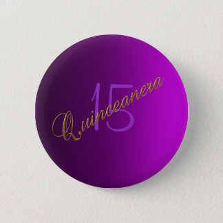 Quinceanera Club Button purple