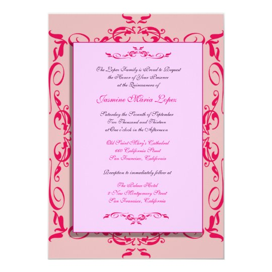 Quinceanera Custom Invitations