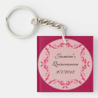 Quinceanera Custom Key Chain Party Favors
