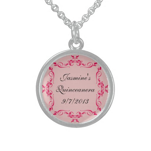 Quinceanera Custom Sterling Silver Necklace
