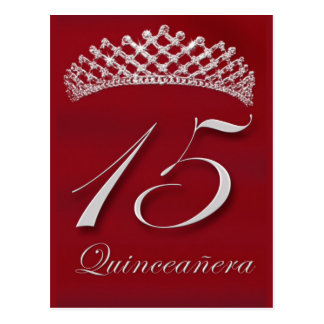 Quinceañera for the 15th birthday post cards