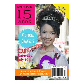 Quinceanera   Magazine Cover   Photo   15th 13 Cm X 18 Cm Invitation Card