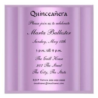 quinceañera Mauve Invitation