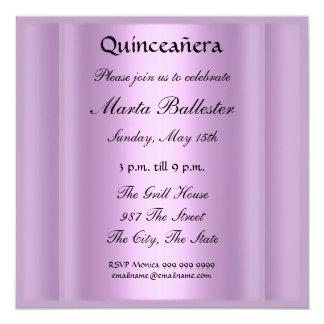 """quinceañera Mauve Invitation 5.25"""" Square Invitation Card"""