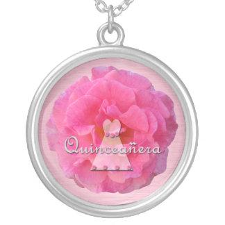 Quinceanera Round Pendant Necklace