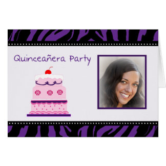 Quinceanera Party Photo Invitation Card