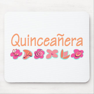 Quinceanera peach color mouse pads