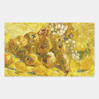 Quinces, Lemons, Pears and Grapes Vincent van Gogh Rectangular Stickers