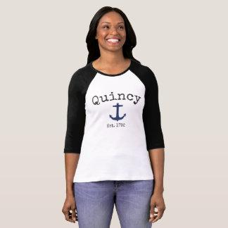Quincy Massachusetts 3/4 Raglan shirt for women