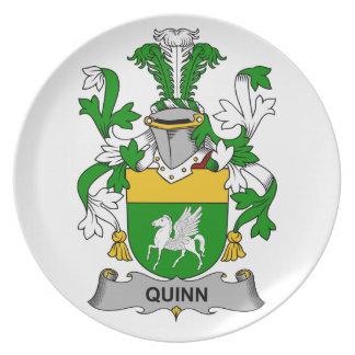 Quinn Family Crest Plate