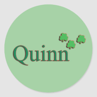 Quinn Family Round Sticker
