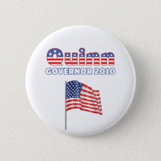 Quinn Patriotic American Flag 2010 Elections 6 Cm Round Badge