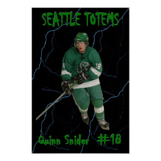 Quinn Snider - Seattle Totems Poster