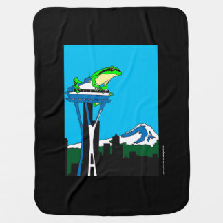 Quintessential Seattle, Washington Baby Blanket