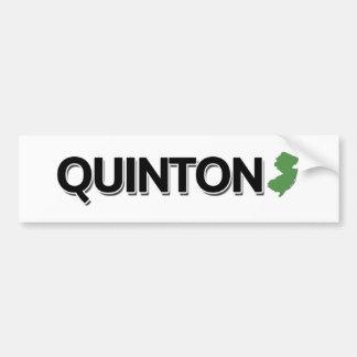 Quinton New Jersey Bumper Sticker