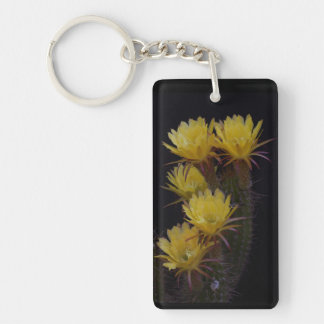 Quintuple of cactus flowers key ring