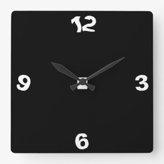 Quirky Black and White> Wall Clock