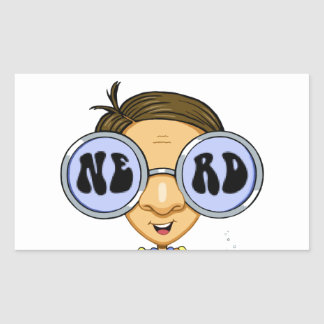 Quirky character products  Nerd for Life (Zebart) Rectangular Sticker