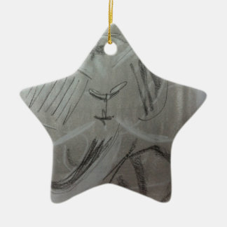 Quirky Charcoal Elephant Christmas Ornament