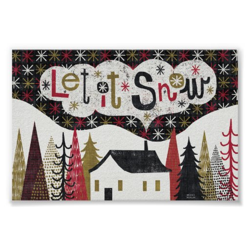 Quirky Christmas Cabin Poster