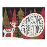 Quirky Christmas Deer Post Cards
