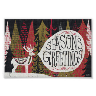 Quirky Christmas Deer Poster