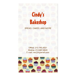 Quirky Colorful Cupcakes Business Card