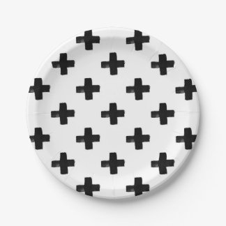 Quirky Crosses Paper Plate 7 Inch Paper Plate