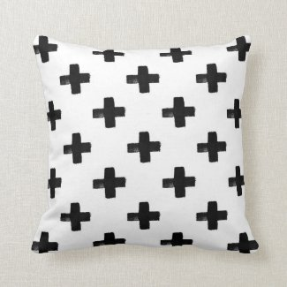 Quirky Crosses Throw Pillow