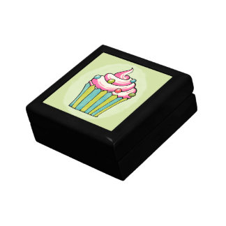 Quirky Cupcake Dotty Pink Tile Gift Box