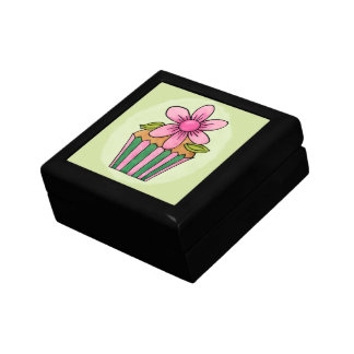 Quirky Cupcake Pink Daisy Tile Gift Box