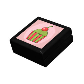Quirky Cupcake Red Cherry Tile Gift Box