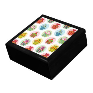 "Quirky Cupcakes 7.125"" Square Tile Gift Box"