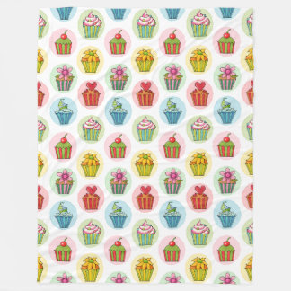 Quirky Cupcakes Fleece Blanket, Large