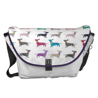 Quirky Dachshund Bag Courier Bag