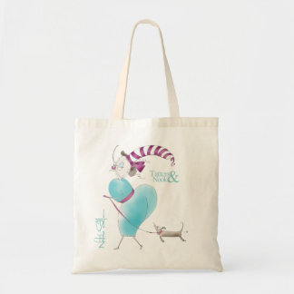 Quirky Design Pink & Teal Sausage Dog Little bag