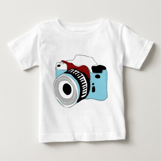 Quirky digital camera illustration baby T-Shirt