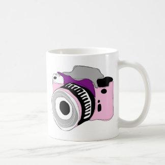 Quirky digital camera illustration basic white mug