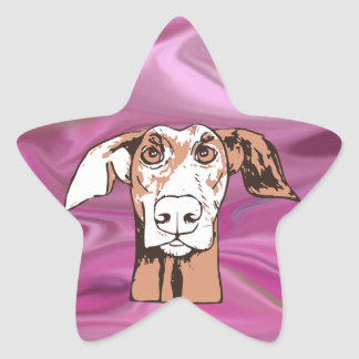 Quirky dog star sticker
