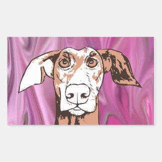 Quirky dog rectangular sticker