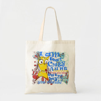 quirky doodle and contemporary lettering tote bag