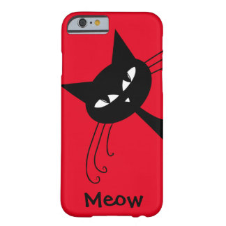 Quirky Funny Black Cat Feline Barely There iPhone 6 Case