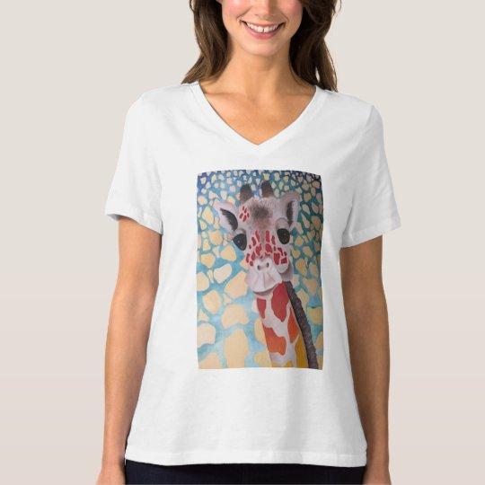 Quirky Giraffe Design T-Shirt
