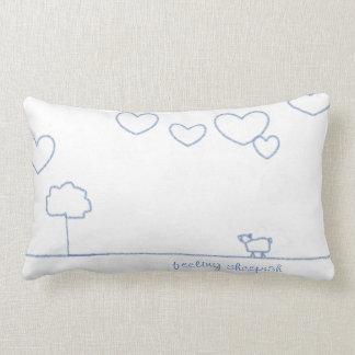 quirky heart cloud cushion